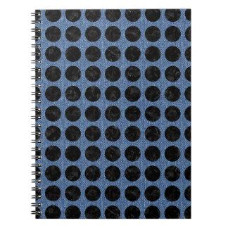CIRCLES1 BLACK MARBLE & BLUE DENIM (R) NOTEBOOK