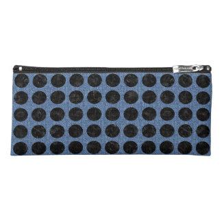 CIRCLES1 BLACK MARBLE & BLUE DENIM (R) PENCIL CASE