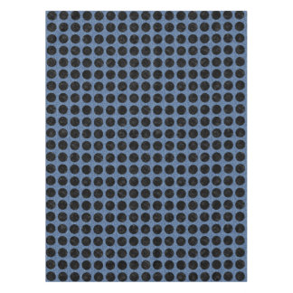 CIRCLES1 BLACK MARBLE & BLUE DENIM (R) TABLECLOTH