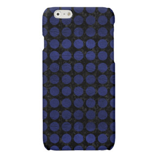 CIRCLES1 BLACK MARBLE & BLUE LEATHER