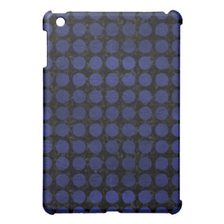 CIRCLES1 BLACK MARBLE & BLUE LEATHER CASE FOR THE iPad MINI