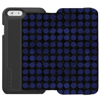 CIRCLES1 BLACK MARBLE & BLUE LEATHER INCIPIO WATSON™ iPhone 6 WALLET CASE