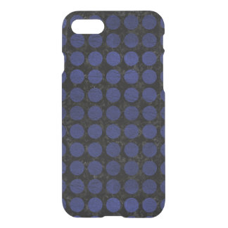 CIRCLES1 BLACK MARBLE & BLUE LEATHER iPhone 8/7 CASE