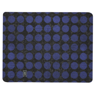 CIRCLES1 BLACK MARBLE & BLUE LEATHER JOURNAL