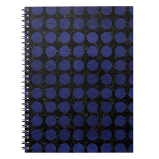 CIRCLES1 BLACK MARBLE & BLUE LEATHER NOTEBOOKS