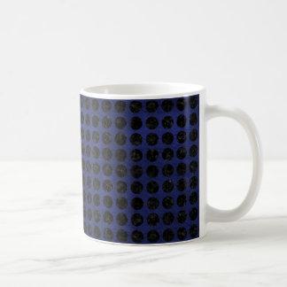 CIRCLES1 BLACK MARBLE & BLUE LEATHER (R) COFFEE MUG