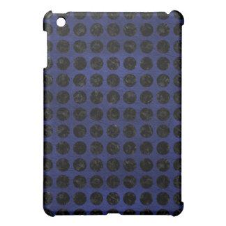 CIRCLES1 BLACK MARBLE & BLUE LEATHER (R) iPad MINI COVER