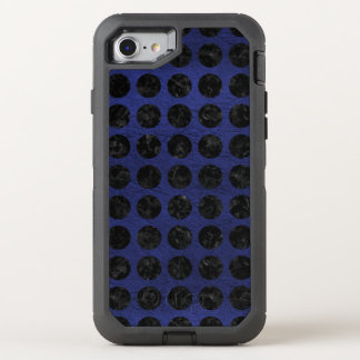 CIRCLES1 BLACK MARBLE & BLUE LEATHER (R) OtterBox DEFENDER iPhone 8/7 CASE