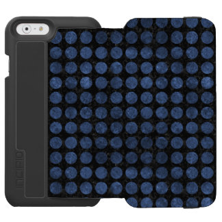 CIRCLES1 BLACK MARBLE & BLUE STONE INCIPIO WATSON™ iPhone 6 WALLET CASE