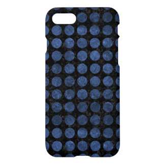CIRCLES1 BLACK MARBLE & BLUE STONE iPhone 8/7 CASE