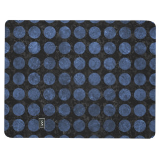 CIRCLES1 BLACK MARBLE & BLUE STONE JOURNAL