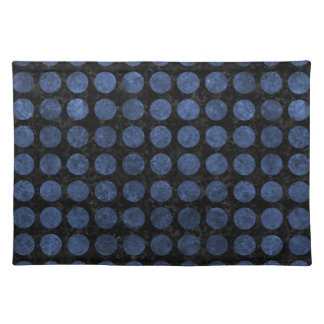 CIRCLES1 BLACK MARBLE & BLUE STONE PLACEMAT