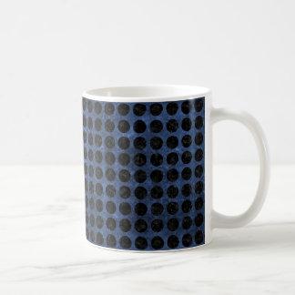 CIRCLES1 BLACK MARBLE & BLUE STONE (R) COFFEE MUG