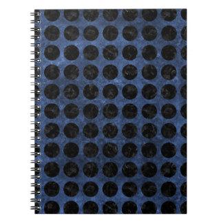 CIRCLES1 BLACK MARBLE & BLUE STONE (R) NOTEBOOK