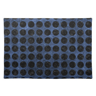 CIRCLES1 BLACK MARBLE & BLUE STONE (R) PLACEMAT