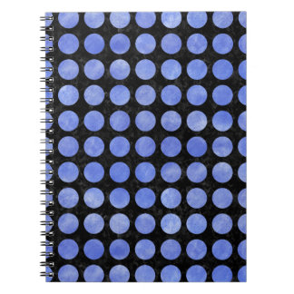 CIRCLES1 BLACK MARBLE & BLUE WATERCOLOR NOTEBOOKS