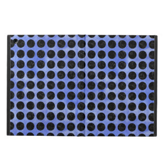 CIRCLES1 BLACK MARBLE & BLUE WATERCOLOR (R) COVER FOR iPad AIR