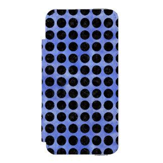 CIRCLES1 BLACK MARBLE & BLUE WATERCOLOR (R) INCIPIO WATSON™ iPhone 5 WALLET CASE