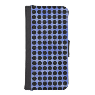 CIRCLES1 BLACK MARBLE & BLUE WATERCOLOR (R) iPhone SE/5/5s WALLET CASE