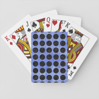 CIRCLES1 BLACK MARBLE & BLUE WATERCOLOR (R) PLAYING CARDS