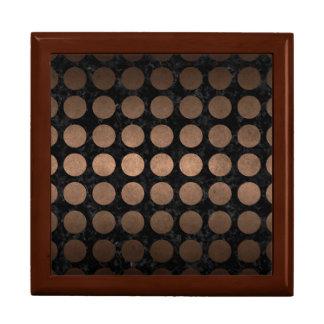 CIRCLES1 BLACK MARBLE & BRONZE METAL GIFT BOX