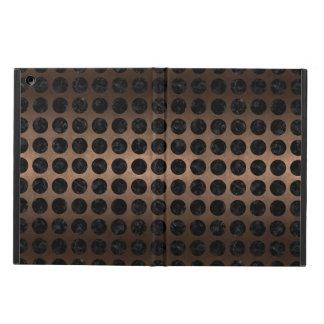 CIRCLES1 BLACK MARBLE & BRONZE METAL (R) CASE FOR iPad AIR