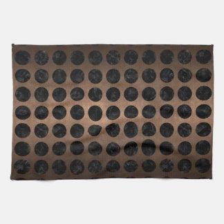 CIRCLES1 BLACK MARBLE & BRONZE METAL (R) KITCHEN TOWEL