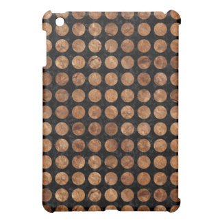 CIRCLES1 BLACK MARBLE & BROWN STONE CASE FOR THE iPad MINI