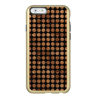 CIRCLES1 BLACK MARBLE & BROWN STONE INCIPIO FEATHER® SHINE iPhone 6 CASE