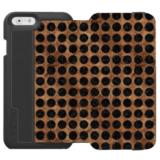 CIRCLES1 BLACK MARBLE & BROWN STONE (R) INCIPIO WATSON™ iPhone 6 WALLET CASE