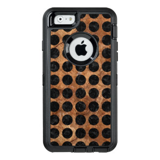 CIRCLES1 BLACK MARBLE & BROWN STONE (R) OtterBox DEFENDER iPhone CASE