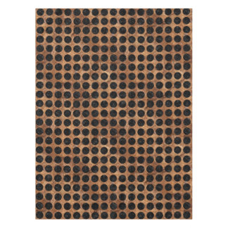 CIRCLES1 BLACK MARBLE & BROWN STONE (R) TABLECLOTH