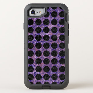 CIRCLES1 BLACK MARBLE & PURPLE MARBLE (R) OtterBox DEFENDER iPhone 8/7 CASE