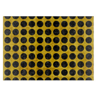 CIRCLES1 BLACK MARBLE & YELLOW MARBLE (R) CUTTING BOARD