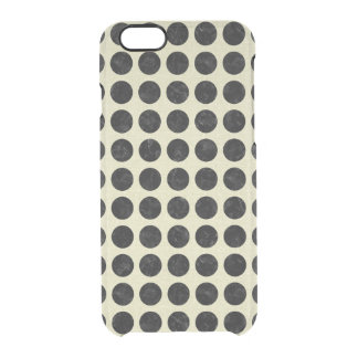 CIRCLES2 BLACK MARBLE & BEIGE LINEN CLEAR iPhone 6/6S CASE