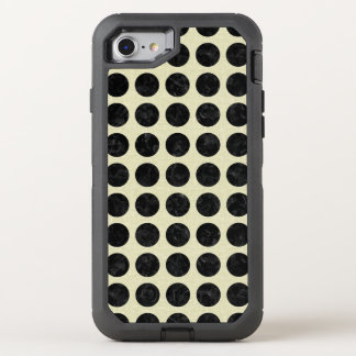 CIRCLES2 BLACK MARBLE & BEIGE LINEN OtterBox DEFENDER iPhone 8/7 CASE