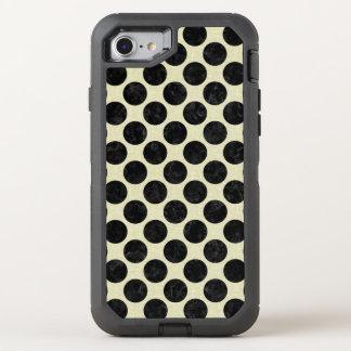 CIRCLES2 BLACK MARBLE & BEIGE LINEN (R) OtterBox DEFENDER iPhone 8/7 CASE
