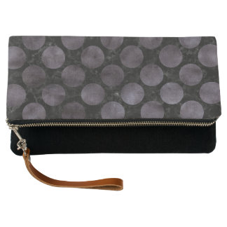 CIRCLES2 BLACK MARBLE & BLACK WATERCOLOR CLUTCH