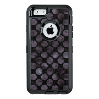 CIRCLES2 BLACK MARBLE & BLACK WATERCOLOR OtterBox DEFENDER iPhone CASE