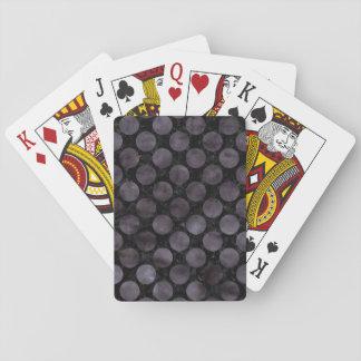 CIRCLES2 BLACK MARBLE & BLACK WATERCOLOR PLAYING CARDS