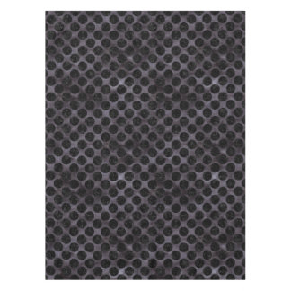CIRCLES2 BLACK MARBLE & BLACK WATERCOLOR (R) TABLECLOTH