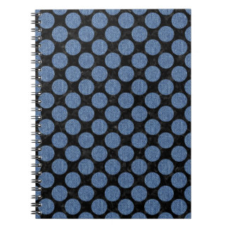 CIRCLES2 BLACK MARBLE & BLUE DENIM NOTEBOOKS