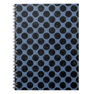 CIRCLES2 BLACK MARBLE & BLUE DENIM (R) NOTEBOOK