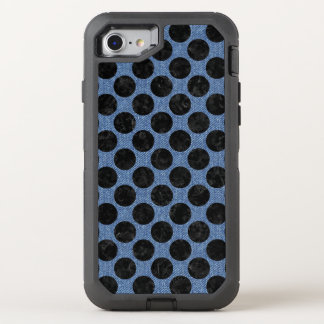 CIRCLES2 BLACK MARBLE & BLUE DENIM (R) OtterBox DEFENDER iPhone 8/7 CASE