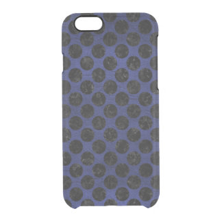 CIRCLES2 BLACK MARBLE & BLUE LEATHER (R) CLEAR iPhone 6/6S CASE