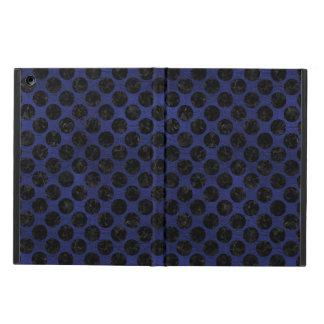 CIRCLES2 BLACK MARBLE & BLUE LEATHER (R) iPad AIR CASE