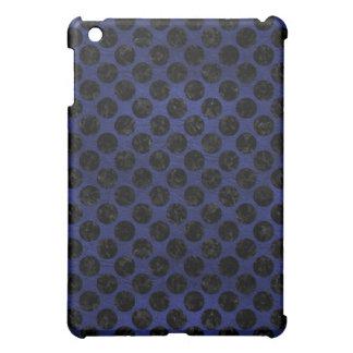 CIRCLES2 BLACK MARBLE & BLUE LEATHER (R) iPad MINI CASE