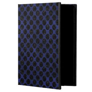CIRCLES2 BLACK MARBLE & BLUE LEATHER (R) POWIS iPad AIR 2 CASE