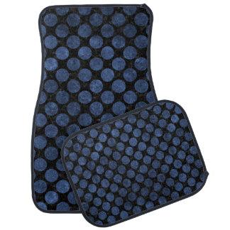 CIRCLES2 BLACK MARBLE & BLUE STONE CAR MAT
