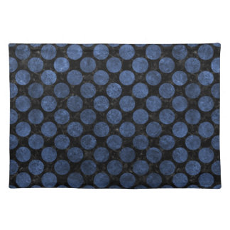 CIRCLES2 BLACK MARBLE & BLUE STONE PLACEMAT